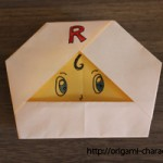 折り紙 【アンパンマン】ロールパンナちゃんの折り方