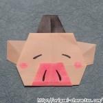 折り紙 【妖怪ウォッチ】寝ブタの折り方