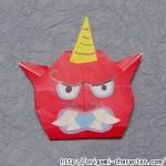 折り紙 【妖怪ウォッチ】赤鬼の折り方