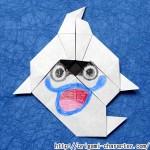 折り紙  【妖怪ウォッチ】ウィスパーの折り方